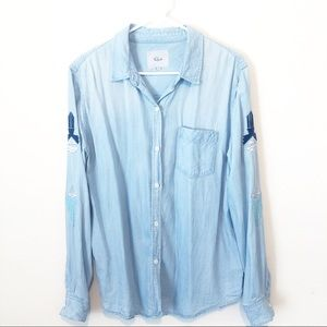 RAILS Cheyanne Sahara Embroidered Button Up L